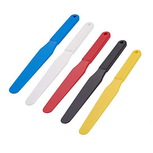 OLYCRAFT 5PCS Espátula para Serigrafía 1.2 espátulas de Plástico de Ancho Cuchara de Tinta Pala para Serigrafía Pala para Serigrafía Pala para Serigrafía Goop Scoop 5 Colores para Impresión