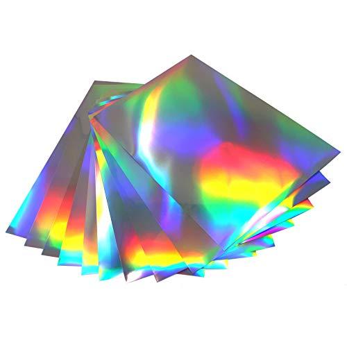 Finest Folia (16,00€/m²) Din A4 Bogen Hologramm Oilslick Bastelfolie Künstlerfolie Plottfolie Plotterfolie Folie Basteln DIY Plotten (10er Set Din A4 Bögen)