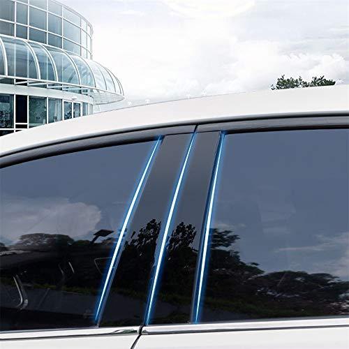 CYBHR Auto außen Auto Außenzubehör Auto Fenster Mittelsäulen Säule dekorative Aufkleber Verkleidung, für Ford Fiesta Focus