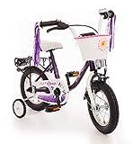 Empress Kinderfahrrad 12 Zoll Fahrrad für Kinder ab 3 Jahre Mädchen Kinderrad Mädchenfahrrad Lila...