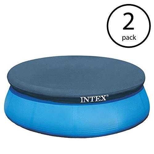 Intex 15 Foot Easy Set Swimming Pool Debris Vinyl Round Cover Tarp (2 Pack)