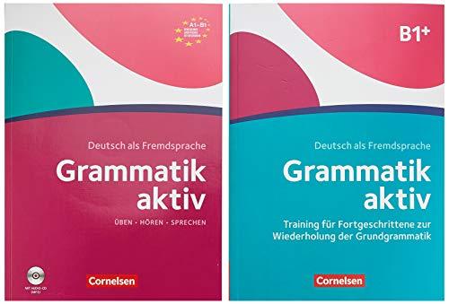 Grammatik aktiv - Deutsch als Fremdsprache - 1. Ausgabe - A1-B1: Verstehen, Üben, Sprechen - Übungsgrammatik A1-B1 und Übungsbuch B1+ - 0-23972-6 und 024470-6 im Paket