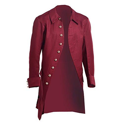 BLESSUME Coloniale Uomini Cappotto (M, Rosso)