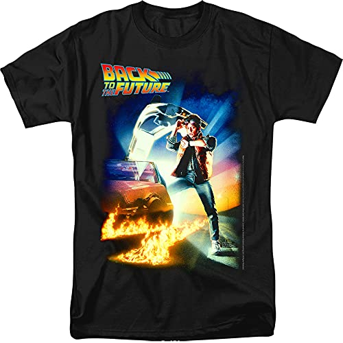 Adults Back to The Future Poster T Shirt & Free Stickers, 7 Colors