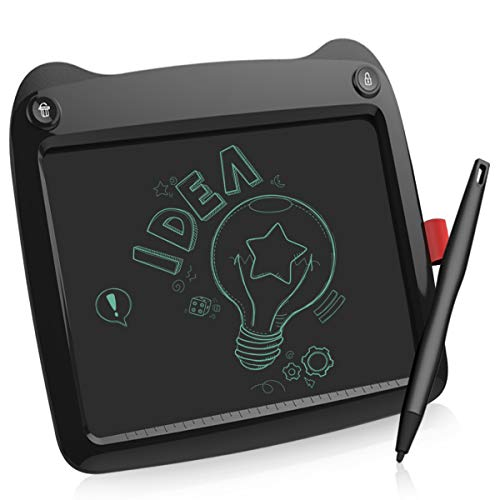 LCD Writing Tablet, 9 Inch Electronic Writing Drawing Pads Portable Doodle Board Gifts for Kids Office Memo Home, E Black