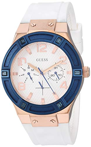Guess Damen Analog Quarz Smart Watch Armbanduhr mit Silikon Armband W0564L1