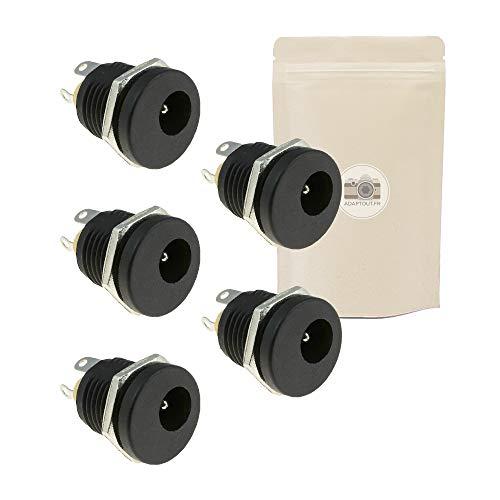X5 Connecteur Alimentation 12V DC Fiche Femelle 5.5mm x 2.1mm à Souder Adaptateur Fiche Prise pour Camera de Surveillance CCTV Soudure - Adaptout Marque Française