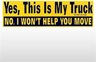 Chili Print Yes This is My Truck Bumper Sticker - Sticker Graphic - Novelty Funny Political Humor Sticker