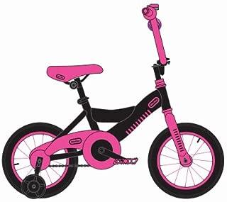 Little Tike LT0900112BKDP Girls' Bike, Pink/Black, 12-in. - Quantity 1