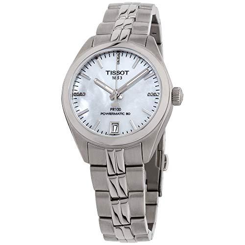 Tissot Damen-Uhren Analog Automatik, Gangreserve ca. 80 Std. One Size Edelstahl 86948559