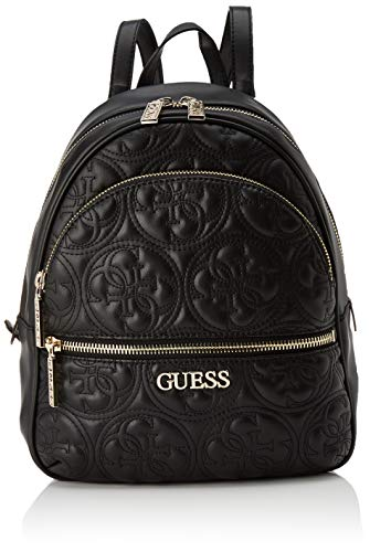 Guess Manhattan Backpack Borsa a Zainetto da Donna, Nero, Taglia Unica