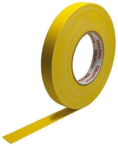 Cellpack 145941900.305-15-25,-Schleifenband Stoff, beschichtete Baumwolle, gelb