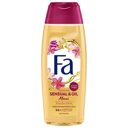 FA - Gel Douche Corps - Cream & Oil - Monoï - A l'Huile d'Argan et Fleur de Monoï - Formule de pH neutre pour la peau - Testé sous contrôle dermatolog