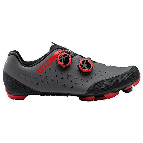 Northwave Zapatillas MTB Rebel 2 Antracita/Rojo - Talla: 43