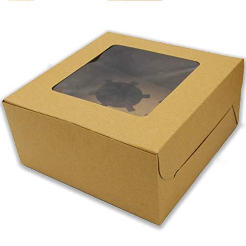 20pcs Cajas Para Cupcake ,WENTS Caja de Pastel Elegante y Portátil Caja...