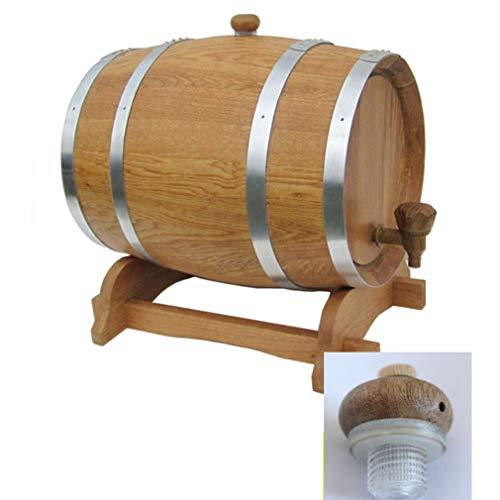 catch-L Barril Sin Barril De Vesícula Biliar Madera Carbonizada Antiséptico Vino Rojo Licor Barril De Madera Maciza For Barra Casera Autoayuda (Color : B, Size : 30L)