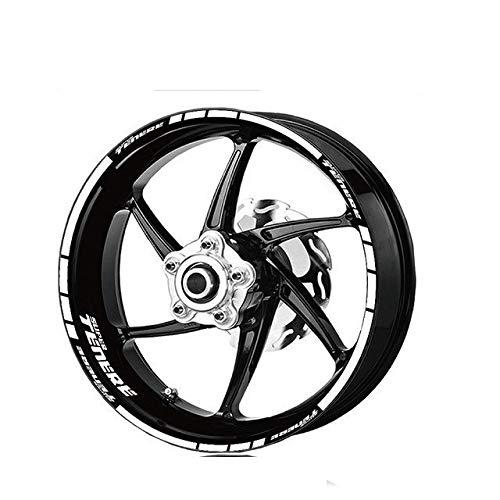Moto Logo impermeabile adesivo riflettente banda Rim kit adesivi for YAMAHA SUPER TENERE Super Tenere pneumatici anteriori e posteriori Mei Racing (Color : 4)