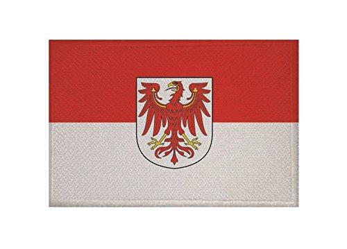 U24 Aufnäher Brandenburg Fahne Flagge Aufbügler Patch 9 x 6 cm