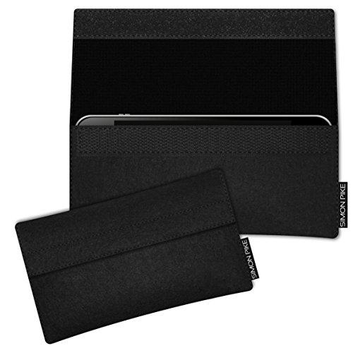 SIMON PIKE Hülle Tasche kompatibel mit Samsung Galaxy S8 Active | Filztasche Newyork in 1 schwarz aus Filz (echtem Wollfilz) Handyhülle