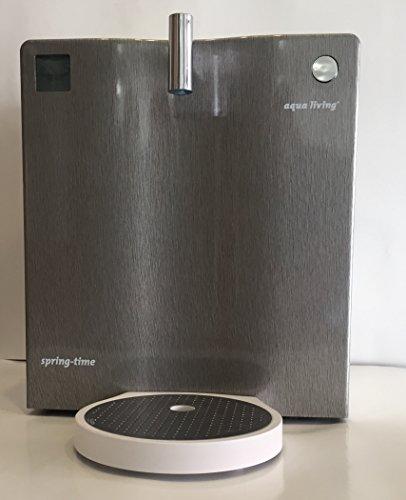 Wasserfilter Spring-time® 400 von aqua living®, Front Aluminiumoptik gebürstet, Umkehr-Osmose, Wasserreinigung