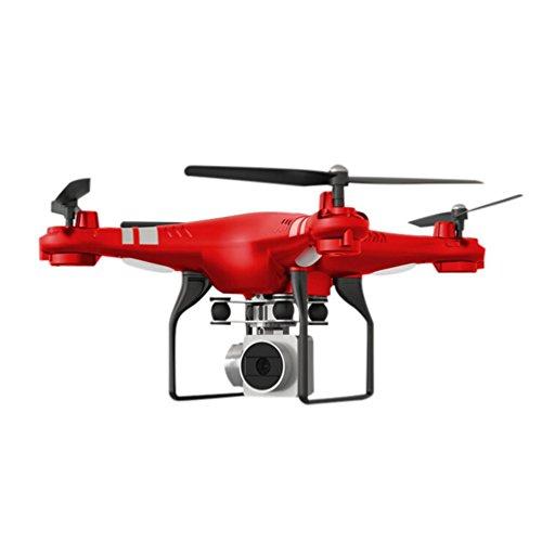 J - NEGOZIO Drone, Giocattolo Drone Con Telecamera Aereo Telecomandato Aereo, Hover Grandangolare Dell'Obiettivo Della Macchina Fotografica Del Quadcopter Rc Drone Wifi In Tensione (Rosso)