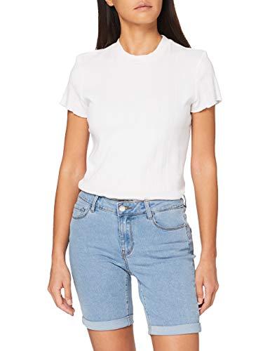 Vero Moda Vmhot Seven NW Dnm Long F Short Color Pantalones Cortos de Jean para Mujer