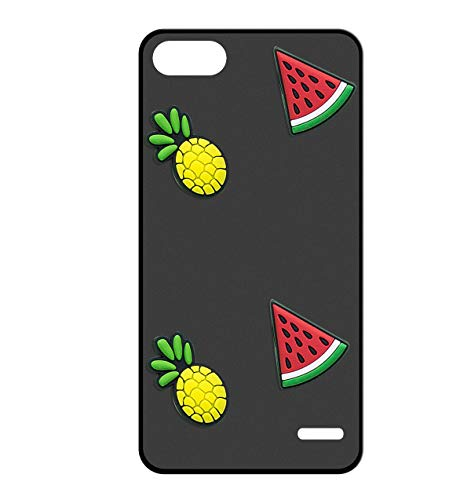 Sunrive Cover per Honor 4C/Huawei G Play Mini, Custodia 3D Case in Molle Matte TPU Silicone Morbida Flessibile AntiGraffio Protettiva Protector Back custodie Bumper(Ananas Anguria)