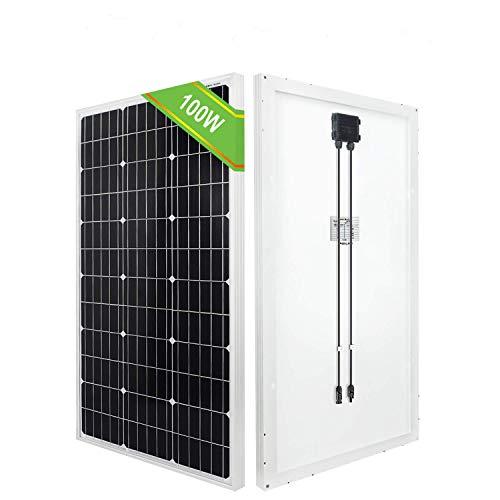 ECO-WORTHY 100 Watt 12 Volt Solarmodul monokristallines Solarpanel Photovoltaikanlage Ideale Sollarzelle 0,4 kWh/Tagfür Haushalt Garten Wohnmobil Campingbus