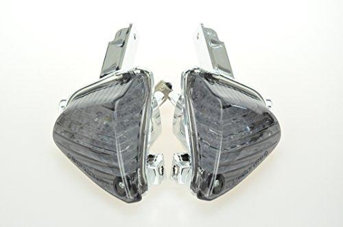 Topzone Moto LED Fumé Lentille Moto Indicateur de clignotant pour Suzuki 2007-2008 GSXR1000, 2008-2009 GSXR600, 2008-2009 GSXR750 (Rear)