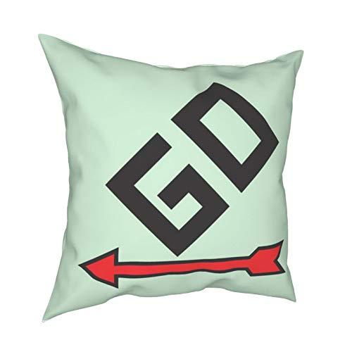 Hustor Monopoly Pass Go - Fundas de almohada decorativas para sofá, hogar, sofá, cama, decoración de vacaciones, 45,7 x 45,7 cm