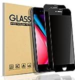 【覗き見防止】 iPhone 8 ガラスフィルム iphone7 フィルム【2枚入】 のぞき見防止 iphone8 保護ガラス アイフォン7 ガラスフィルム のぞき見 【貼り付け簡単/気泡ゼロ/割れない】