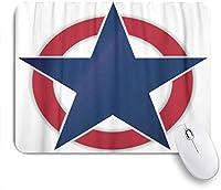 GUVICINIR マウスパッド 個性的 おしゃれ 柔軟 かわいい ゴム製裏面 ゲーミングマウスパッド PC ノートパソコン オフィス用 デスクマット 滑り止め 耐久性が良い おもしろいパターン (レッドサークルのアメリカブルースター)