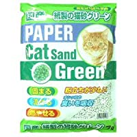 KKC 紙製の猫砂 グリーン 1ケース(7L×6袋)