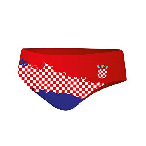Diapolo Croatia Professioneller Schwimmhose Badehose Wasserballhose Herren Männer S M L XL XXL (XL)