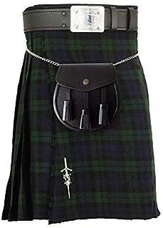 """Nouveau Grand écossais pierre verte 3/"""" Broche Finition Antique Kilt Fly//PIPER PLAID"""