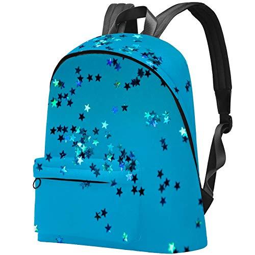 Mochila de viaje con diseño de estrellas brillantes en duotone para estudiantes universitarios