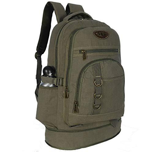 mochila de lona masculina camping resistente pesca viagem 50 litros grande (Verde Oliva)