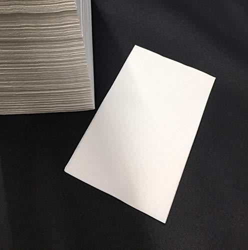 Einweg Handtücher aus Airlaid | Papierhandtücher | samtweiche Tücher | 24 x 40 cm | Einmalhandtücher | Weiß | 200 Stück |
