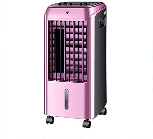 wangYUEQ Ventilador de Aire Acondicionado Interior, Ventilador de refrigeración para el hogar silencioso pequeño Ventilador de refrigeración Torre de Oficina, (Color: Oro Rosa)