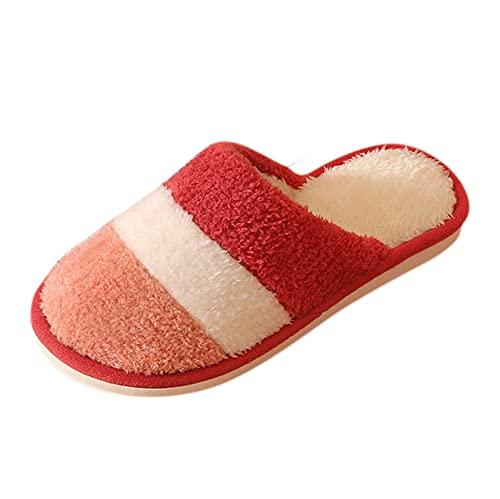 URIBAKY - Zapatillas para mujer, sin cordones, de felpa suave, para el hogar, con espuma...