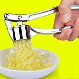 Prensador de ajos, prensador de ajos de acero inoxidable, herramienta de cocina, prensador de manos, pelador de jengibre