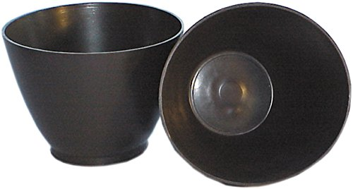 HAROMAC Gipsanrührbecher, schwarz, aus Gummi, Super Flexibel, konisch, Fliesen, Gips