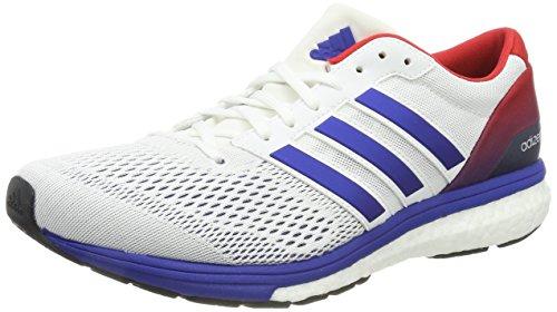adidas Adizero Boston 6 Aktiv, Zapatillas de Deporte Unisex Adulto, Blanco (Ftwbla / Reauni / Escarl), 41 1/3 EU