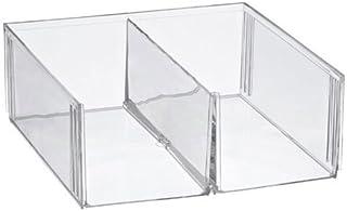 OC ORDEN EN CASA Y MUCHO MAS Cubo metacrilato Dos Compartimentos, 30 * 30 * 11cm