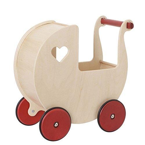 Moover Toys Holz Maxi- Puppenwagen natur / dolls pram natural / Puppenwagen im Nostalgiedesign