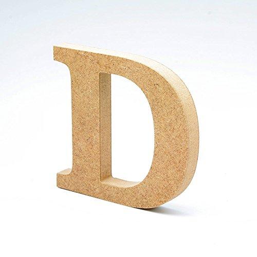 LA LLUNA ALWAYS CREATING Letras de Madera. Letras Grandes de Madera DM de 20cm de Alto para decoración y Manualidades. Disponible el Alfabeto Completo (D)