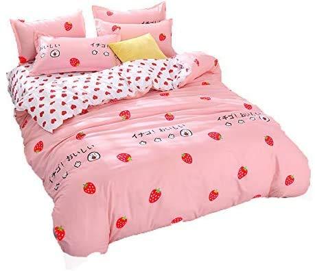 LemonTree Girls Strawberry Beddings Teens Red...