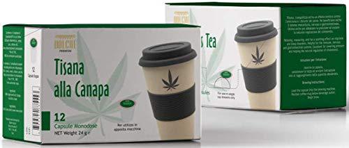 Dolché, Tisana alla Canapa Sativa, in Capsule Keurig K-cups 2.0, box 12 capsule