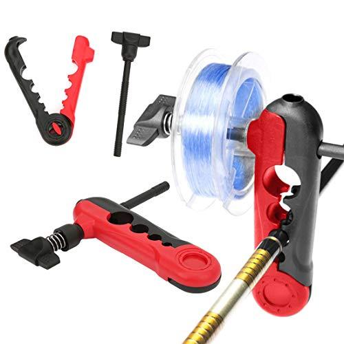 N/D Portable Universal Fishing Line Spooler Adjustable for Various Sizes Rod Winder Board Spool Line...