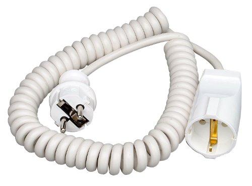 Kopp 140201091 - Alargador de Espiral (elástico, 2,5 m), Color Blanco